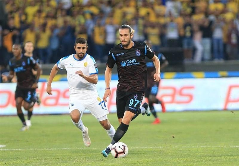 سوپر لیگ ترکیه، شکست ترابزون اسپور با بازی یک نیمه ای وحید امیری