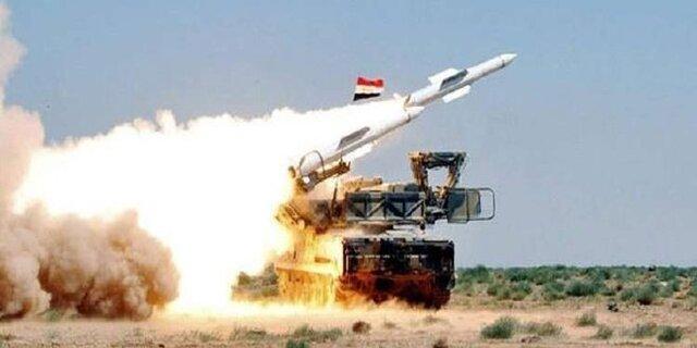 پدافند هوایی سوریه حمله موشکی به حومه حماة را دفع کرد